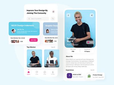Redesign The Design Thinker App community application mobile design uidesign mobile uiuxdesign ui design uiux community mentor app mentor community app