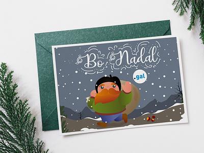 Chirstmas Postcard 'O Apalpador' .gal website domain character dominio puntogal christmas card galicia apalpador design illustration