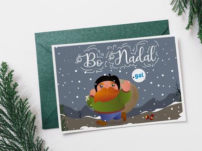 Chirstmas Postcard 'O Apalpador'