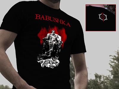 Babushka short film T-Shirt tshirt design final degree project horror short film crowdfunding illustration design