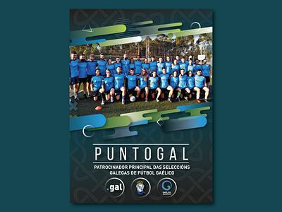 Gaelic Football Banner galicia illustrator selección galega gaelic football puntogal banner design banner