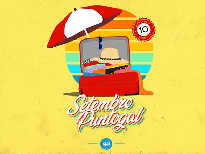 'Setembro Puntogal' I - Social Media Campaign summer september instagram social media design social media campaign web domain illustration illustrator design vector galicia puntogal