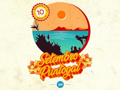 'Setembro Puntogal' III - Social Media Campaign web domain summer social media design social media campaign instagram puntogal illustrator illustration design vector galicia