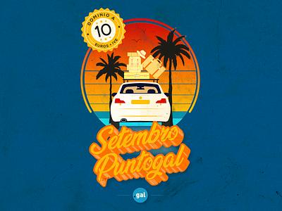 'Setembro Puntogal' IV - Social Media Campaign instagram web domain summer social media campaign design illustrator puntogal illustration vector galicia