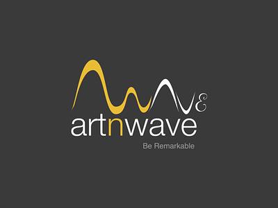Artnwave Logo company branding design artnwave wave art logo