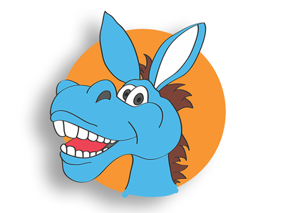 Donkey for Sombhar maskot character funny cute donkey painting art digital drawing sketch