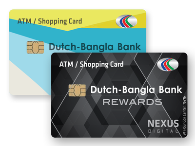 DBBL Bank Credit Cards design branding dbbl bank bangla dutch chipcard chip emv smart cards credit