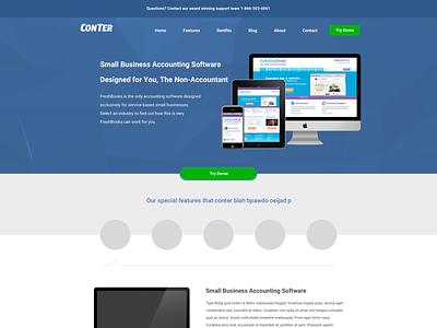 Conter Landing Page ux mobile logo company typography ui branding design