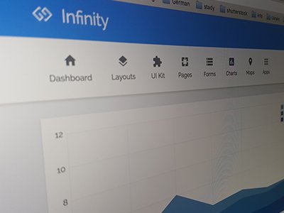 Infinity - Topbar web app visualization ui panel kit dashboard crm charts bootstrap application app admin