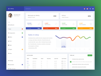 Infinity Free Dashboard PSD - Home Page