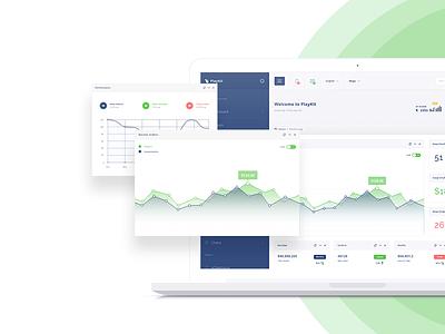 PlayKit - Responsive Web App Kit #2 web app visualization ui panel kit dashboard crm charts bootstrap application app admin