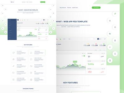 PlayKit - Responsive Web App Kit #3 web app visualization ui panel kit dashboard crm charts bootstrap application app admin