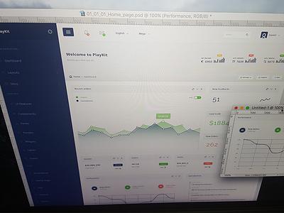 PlayKit - Responsive Web App Kit #5 web visualization ui panel kit dashboard crm charts bootstrap application app admin