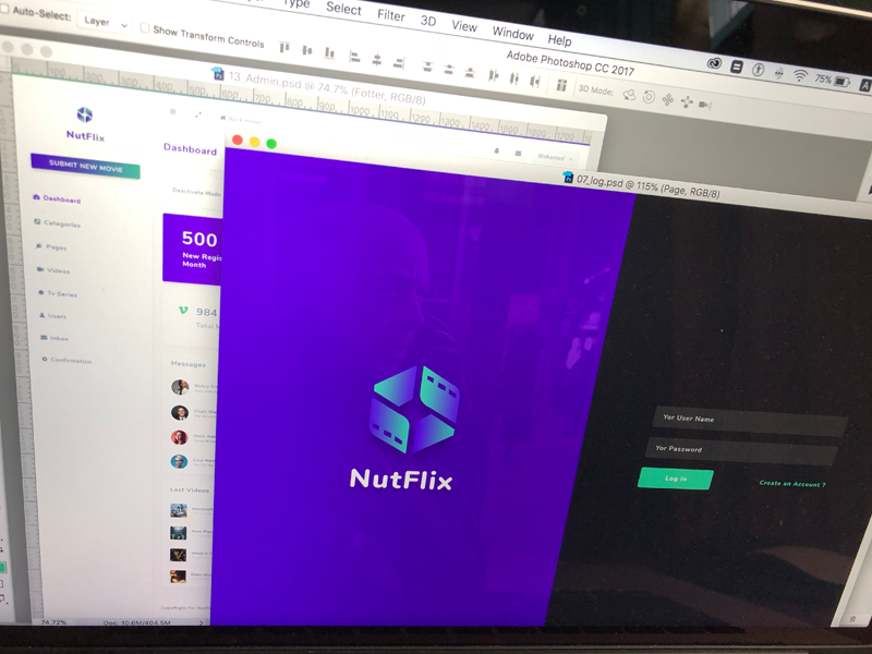 NutFlix - Tv Series - Movies CMS - login page website subscription videos membership cms script video php nutflix platform learning admin