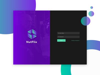 NutFlix - Tv Series - Movies CMS - login page