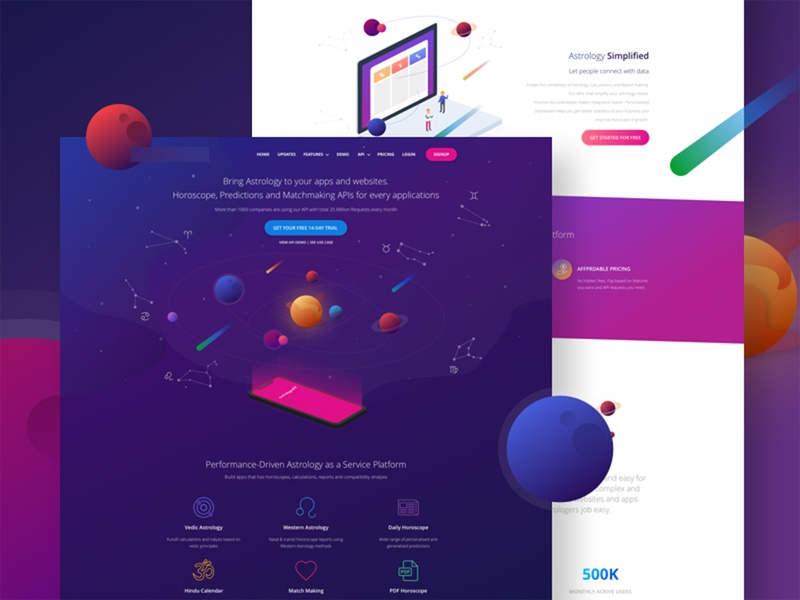 Landing page landing page website web illustration design