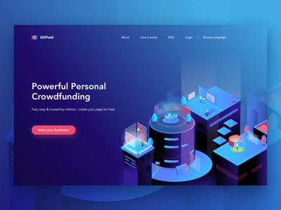Landing page illustration illustrator landing page design ux ui website web