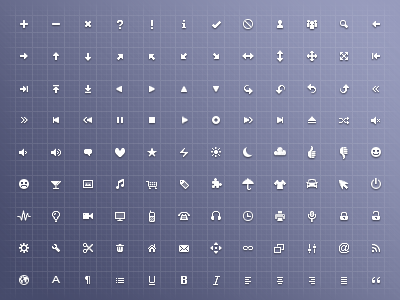 Free 128 x 16 x 16 Icon Set icon set free 128 16x16 16px buttons white colors ui webapp css sprite