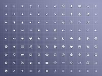 Free 128 x 16 x 16 Icon Set