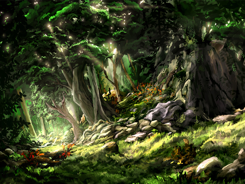 Openforest forest treest jungle landscape