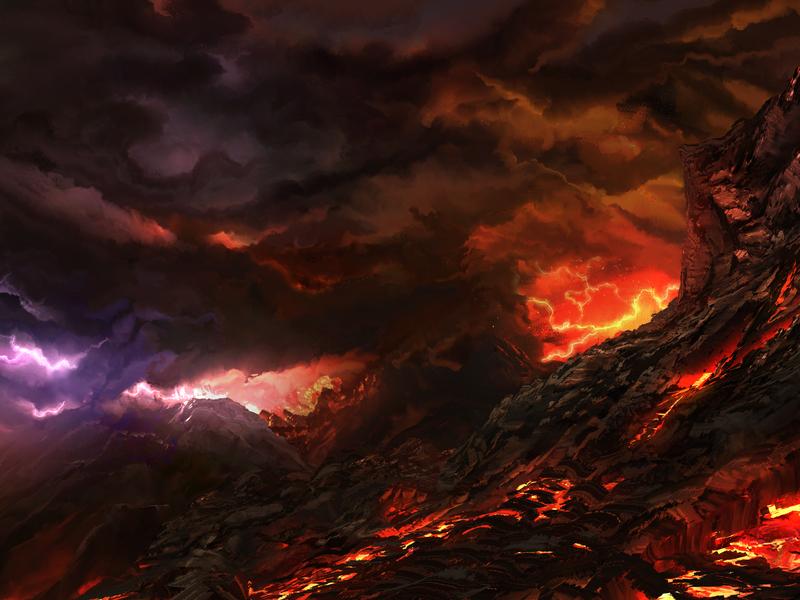 Mt.Fury fury fire volcano magma lava landscape environment