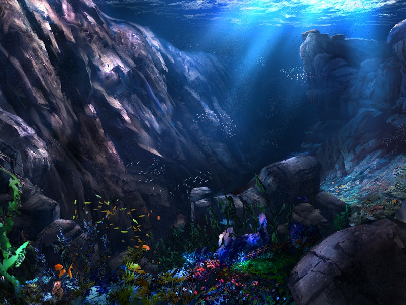 The Deep water landscape fish sea ocean