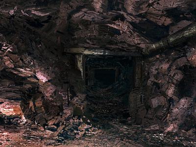 End of the Mine subterranean underground scenery minecraft mine rocks environment landscape