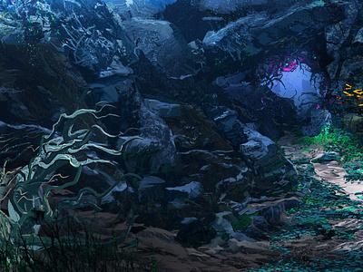 Sea Cave ocean life fish waterscape landscape blue water sea ocean