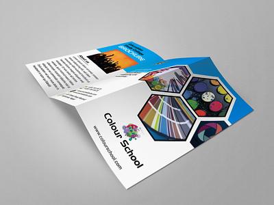 Colour School Brochure bi-fold brochure bifold bi-fold tri-fold brochure brochure design brochure