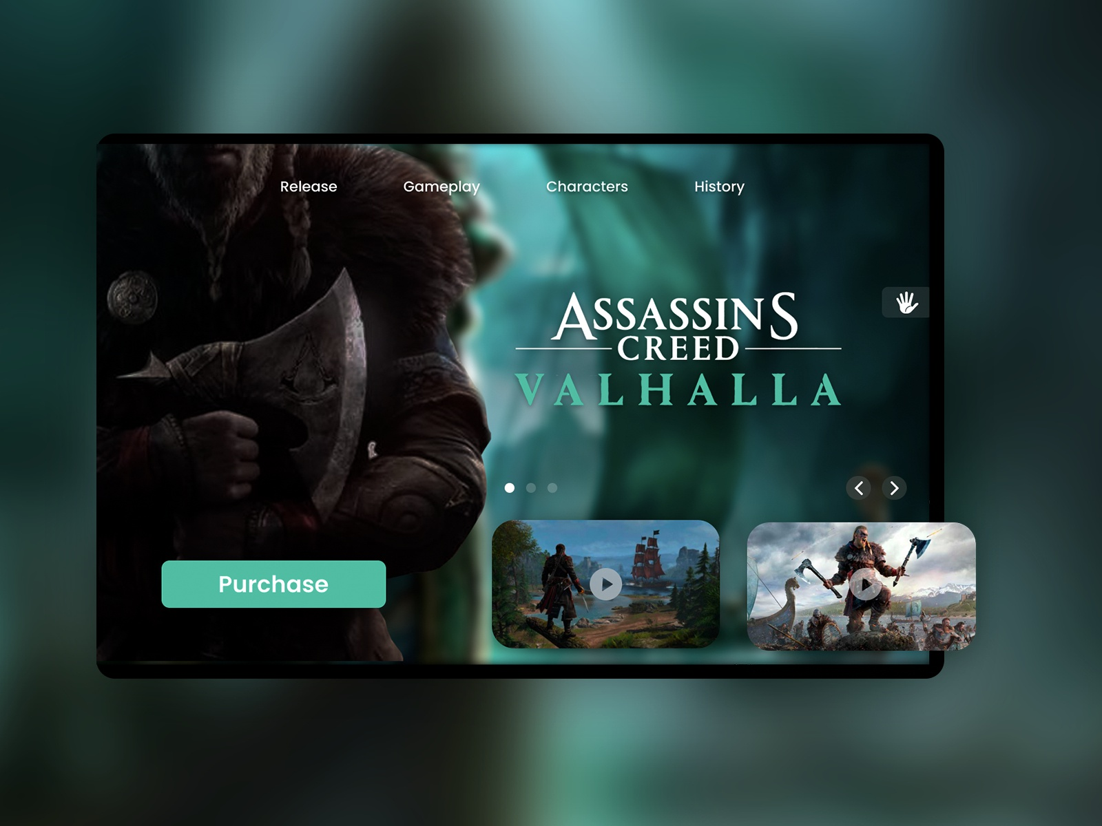 Daily Ui Assassins Creed Valhalla Landing Page By Tiago Akimoto
