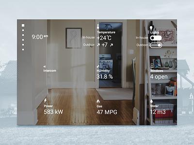 🏠 Home Monitoring Dashboard minimal monitoring dashboard home ui interface