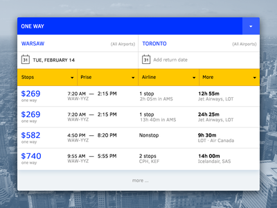 ✈ Flights Tickets Search search tickets. flights ui interface