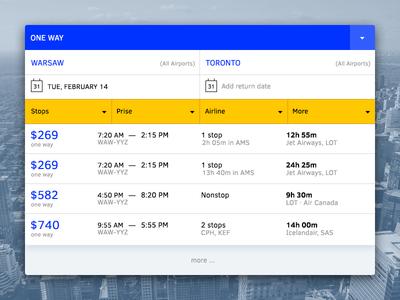 ✈ Flights Tickets Search search tickets. flights ui interface