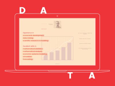 Data Scientist Website wordpress desktop mobile ui interface website
