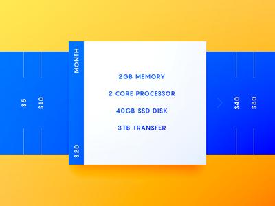💲 Pricing screen pricing prices dailyui interface ui