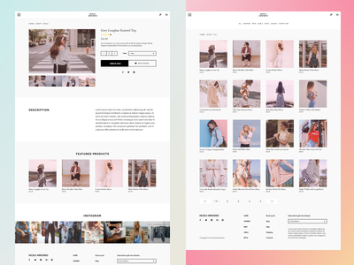 Product Page and Shop Page customize shop product web modular grid minimalism layout interface wordpress wip