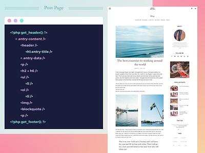 Blog Post Page page post blog wordpress wip web modular grid minimalism layout interface customize