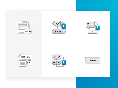 Set of Outline Icons side style outline set icons website project
