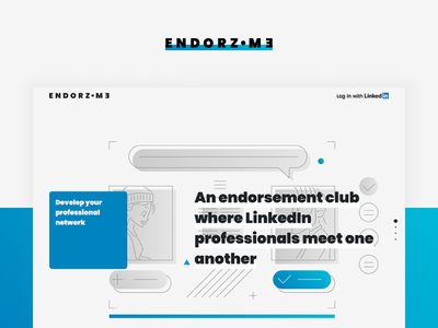 Endorz ● me. Front Page Templates. side project developing ui interface website endorsements service