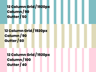 PSD and Figma Grid Set for Web Projects 1920 dimension gutter column grid web figma photoshop bootstrap