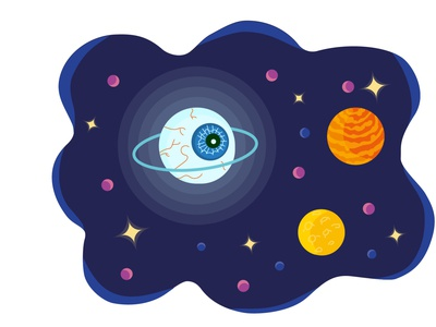 Space vector illustration logo vector illustration vector vectorart illustration design stars alien cosmic cosmos planets space