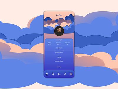 Daily UI Day 006: User Profile branding vector ux design dailyui app ui