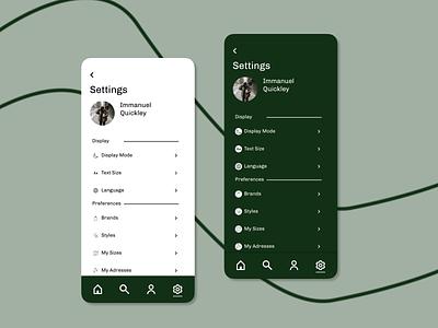 Daily UI Day 007: Settings settings design app ux ui dailyui