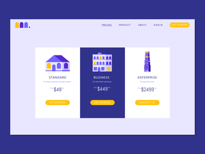 Daily UI Day 030 : Pricing service pricing table pricing logo ux vector illustration branding app design dailyui ui