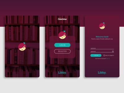 Libby App Login Redesign illustration ui design login page app design app