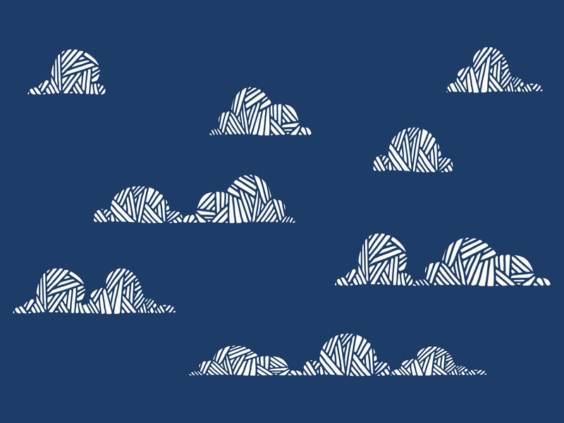 Clouds vector hand drawn.
