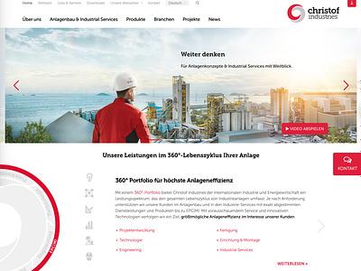 Webdesign Christof Industries branding and identity corporate identity corporate design web design