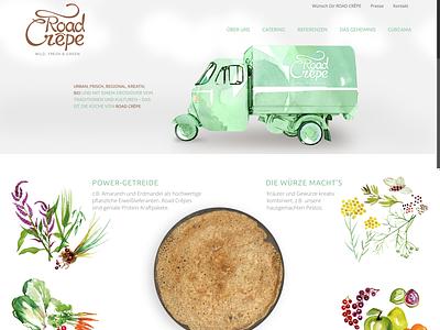 Road Crepe Logo & Webdesign corporate design illustration corporate identity branding and identity web design