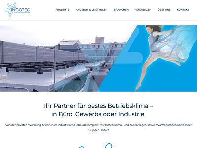 Webdesign Incotec corporate design corporate identity web design