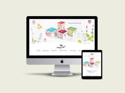 myCel Kosmetik Branding & Website corporate design wordpress logodesign web design